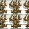 "16 MERMAID heavy handle praying Dewi mermaid KNOB aged old solid Brass PULL knobs kitchen 3"""