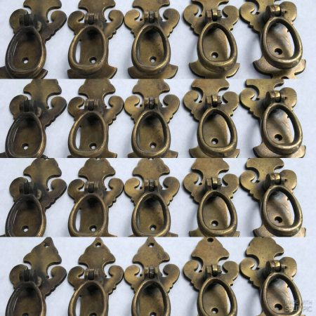 """20 pulls handles solid brass door age old style drops knobs kitchen heavy 4"""""""