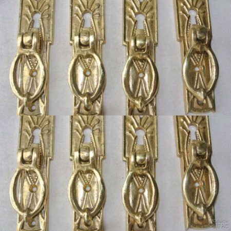8 pulls drops handles antique style solid brass vintage old replace drawer small door heavy