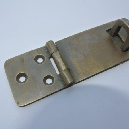 small box catch hasp latch aged real brass old style house DOOR heavy rectangle solid brass Antique Vintage style Lock hand made
