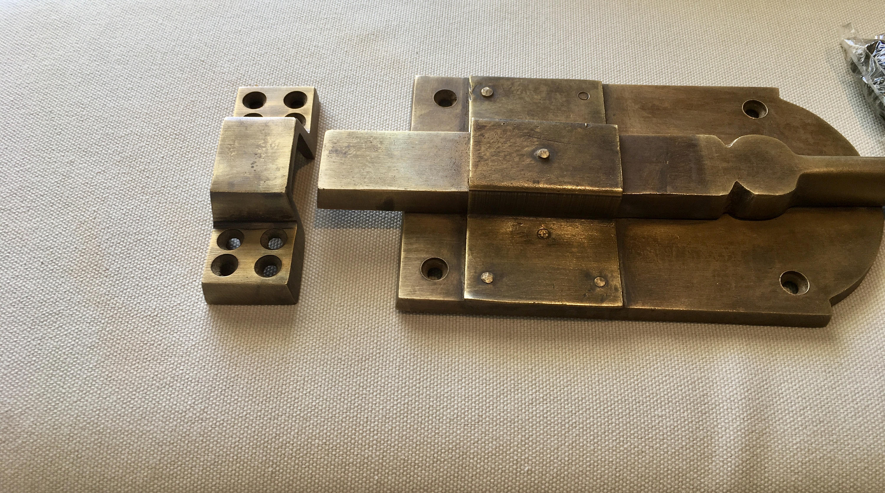 """4 large heavy 12 /"""" large slide Bolts french old style doors very solid 30cm B"""