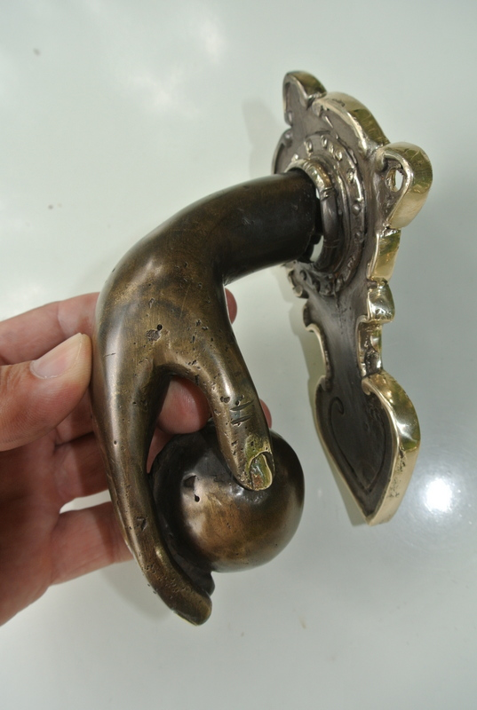 Small Hand Fist Ball Front Door Knocker Hand 6 1 2 Quot Inches