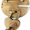 """heavy HASP & STAPLE heart Padlock and KEY included WORKS 5"""" OVAL catch latch bronze patina"""