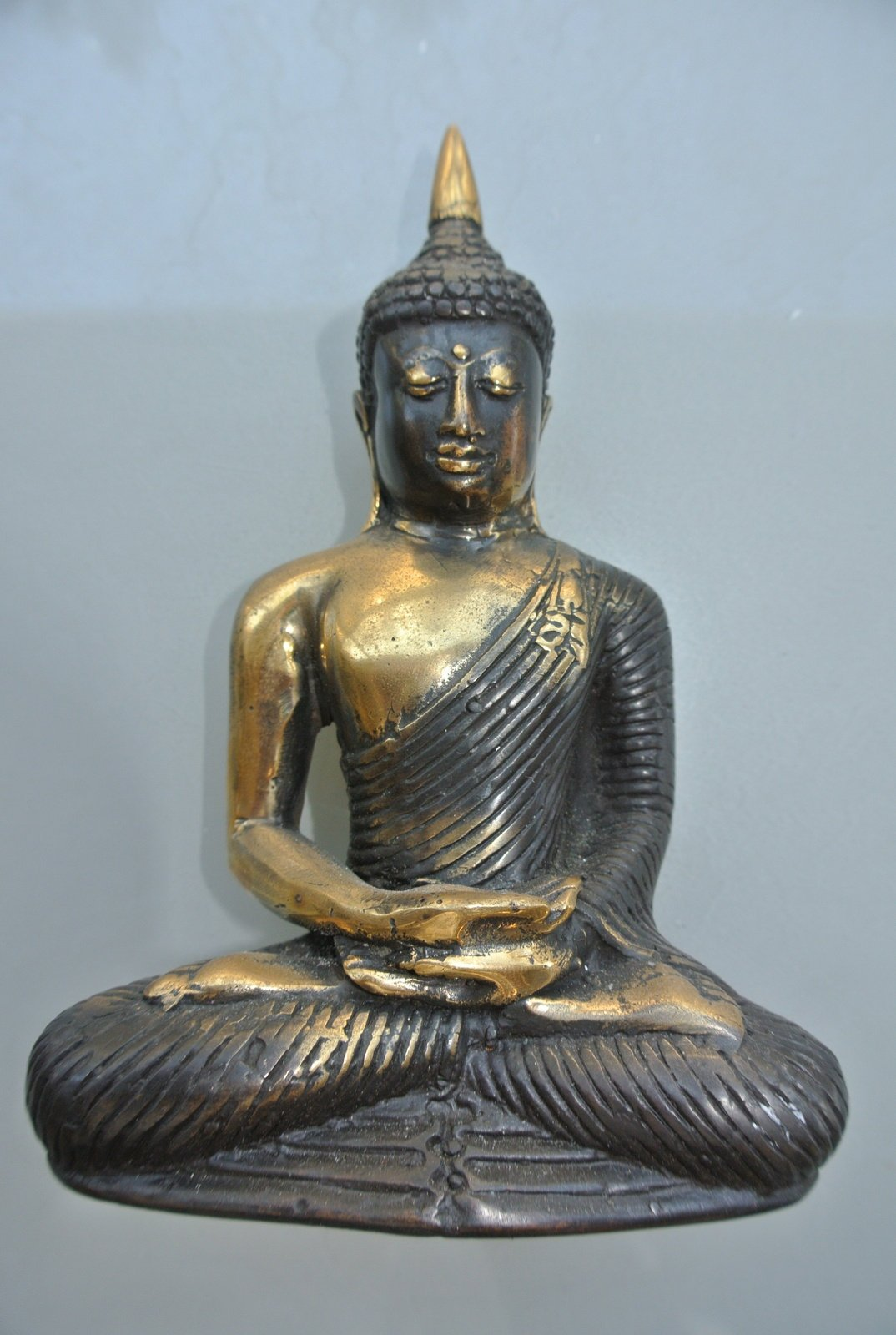 Small 15cm Heavy Buddha Statue Display Old Age Style Solid