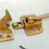 "rare ICE BOX CATCH lever aged antique deco style solid pure brass heavy offset 4"" left & right vintage old aged style hand made cast (Copy)"