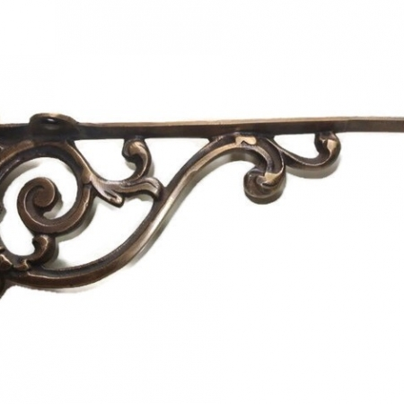 """Small 9"""" Bracket solid solid brass antique look 22 cm heavy old style vintage right angle shelf hang arm support cast victorian"""